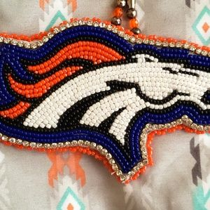 Denver Bronco Beaded Medallion
